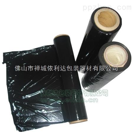 PE拉伸膜-长期供应:佛山依利达长期供应PE黑色拉伸膜