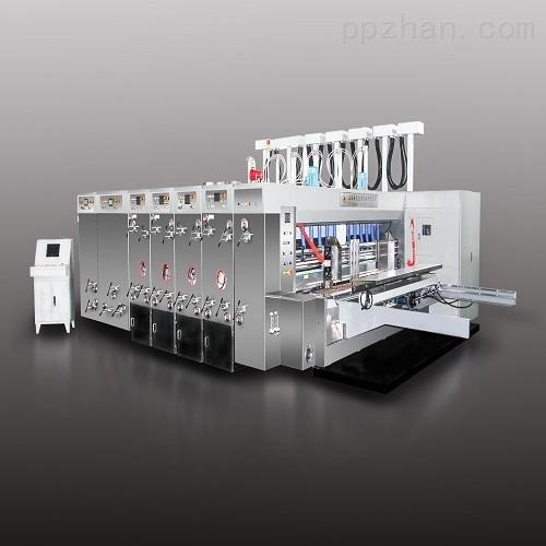 8000型电脑高速自动水性印刷开槽模切机